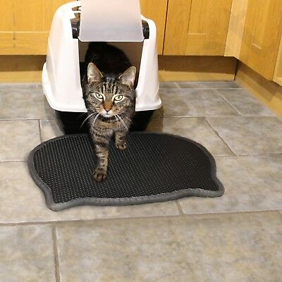 Cat Litter Tray Mat Eva Two Layers Kitten Scatter Control Paw Cleaning Easipet