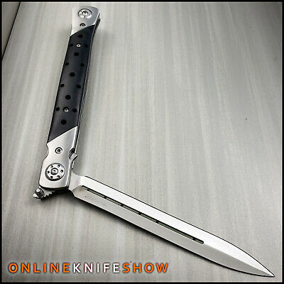 "13"" Extra Large Milano Big Boy Stiletto Blade Assisted Open Folding Pocket Knife 2"