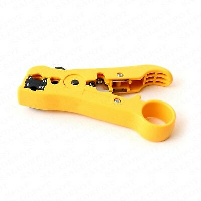 Coaxial Cable Stripping Tool RG6 RG11 RG59 RG7 Wire Cutter Stripper + connectors 10