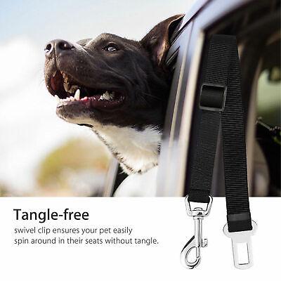 2 Pack Cat Dog Pet Safety Seatbelt for Car Seat Belt Adjustable Harness Lead 6