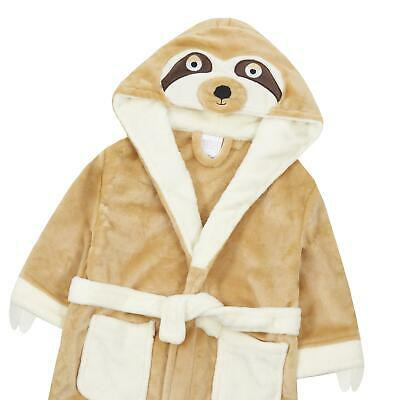 Childrens / Girls / Boys Novelty Sloth Dressing Gown / Robe ~ 2-13 Years 3