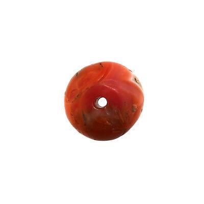 (2361) Buddhist Pema Raka (Nan Hong) Bead, 古色古香的南红珠子  珠 China-Tibet 2