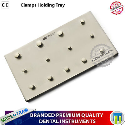 Professional Dentist Rubber Dam 13pcs Clamps Holding Tray Dental Instruments X1 2