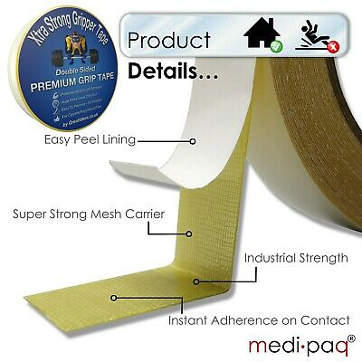 Strong Double Sided Tape Bonding Adhesive Carpet Rug Gripper Mounting Heavy Duty 4