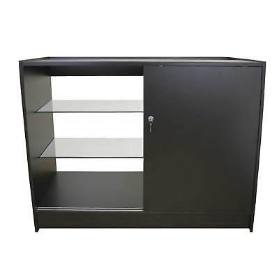 Vape Retail  Counter Glass Shelf Product Display Lockable Cabinet Black K1200 2