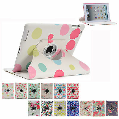 360 Rotating Leather Smart Cover Case for iPad 6th Gen iPad 5 4 3 2 Air mini 9