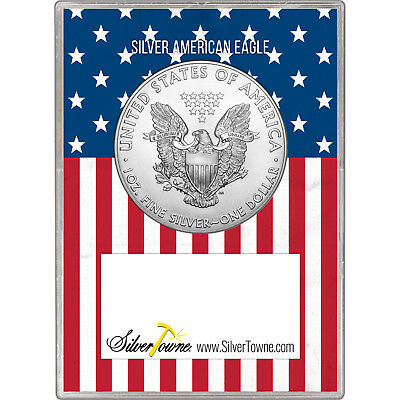2019 Silver American Eagle BU in Silver Dollar First Salute Gift Holder 2