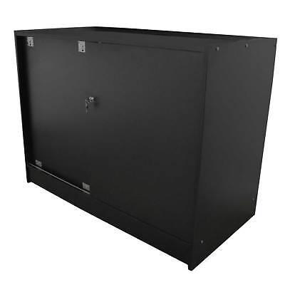 Vape Retail  Counter Glass Shelf Product Display Lockable Cabinet Black K1200 3