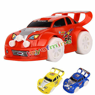 4 Of 11 Funny Flashing Music Racing Car Electric Automatic Toy Boy Kid Birthday Gift New