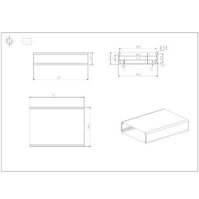 Aluminum Enclosure Electronic DIY PCB Instrument Project Box Case(24x79x110mm) 4