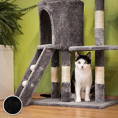 Arbre à chat griffoir grattoir jouet animaux douillet et peluché noir 5