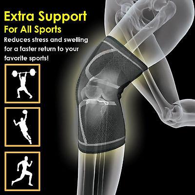 A Pair Orthopaedic Heating Magnetic Knee Support Tourmaline Sprain Arthritis New