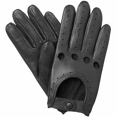 MEN/'S CHAUFFEUR REAL SHEEP NAPPA LEATHER CAR DRIVING GLOVES TRUCKING RIDING