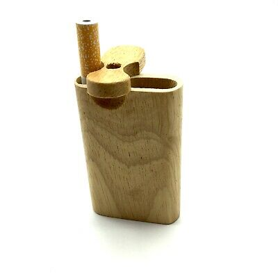 Dugout One Hitter Stash Box Wood Mini Wooden GrassFire Metal Pipe FREE Shipping 4