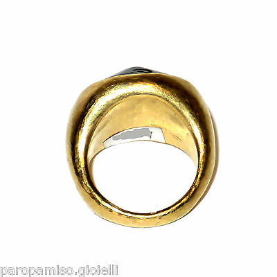 18kGold Ring Mounting an Antique Piece of Jet (Fossilized Wood) 18century.(0593) 3