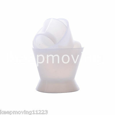 3 Pcs Flexible Dental Lab Silicone Mixing Cup Acrylic NonStick Bowl Dappen Dish 2