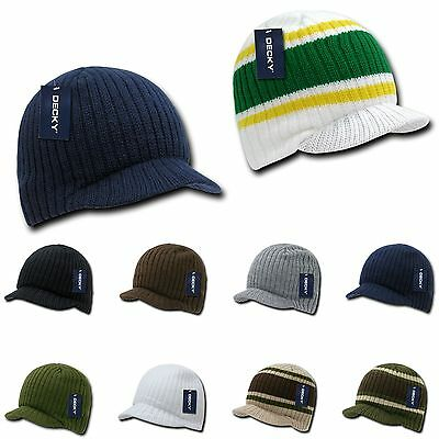 Decky GI Light Weight Beanies Striped Solid Caps Hats Visor Winter 2
