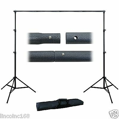 Black/White Backdrop Support Stand Photography Studio Video Softbox Lighting Kit 8