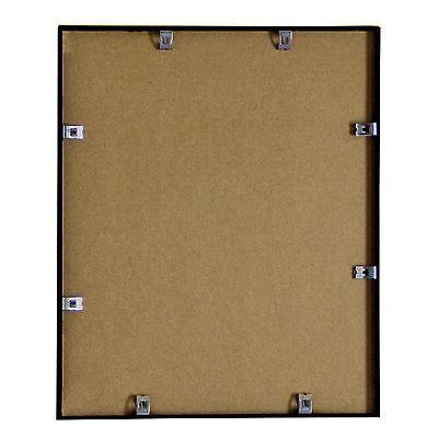 16x20 metal picture frame w plexi glass shiny black silver or