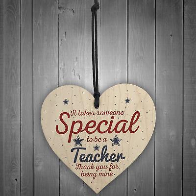 Handmade Hanging Heart Gift For Teacher Leaving Present Thank You Gifts Keepsake 2