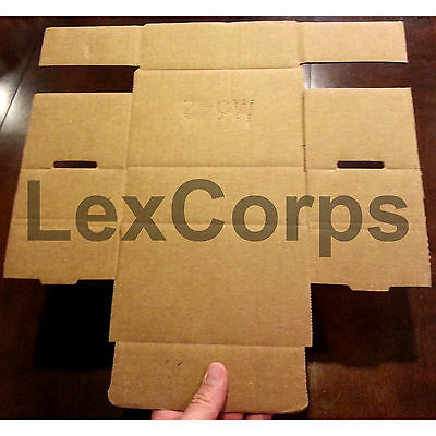 White Corrugated Mailers MANY SIZES 50 100 200 Shipping Packing Fold Box 2