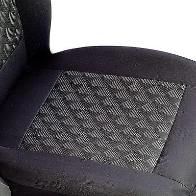 Schwarz Effekt 3D Sitzbezüge für KIA SPORTAGE Autositzbezug VORNE
