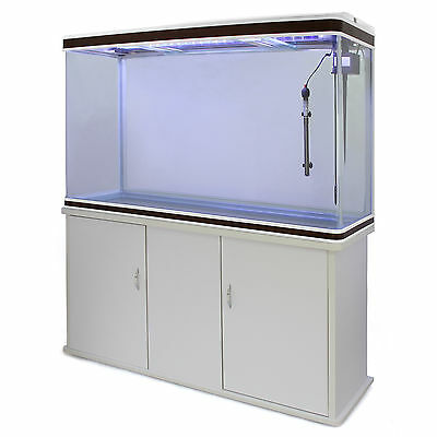 Fish Tank Aquarium Tropical Marine Complete Set Up 4ft White Cabinet 300 Litre 7