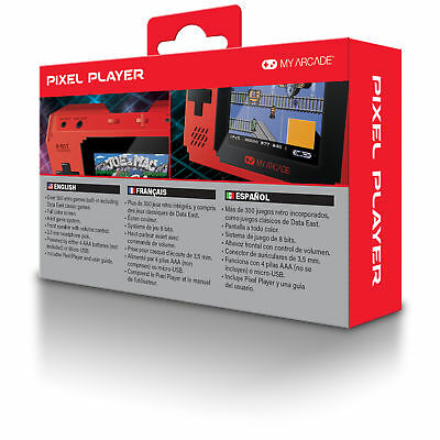 MY ARCADE Pixel Player Portable Handheld 300 Built-in Video Games+Data East Hits 3