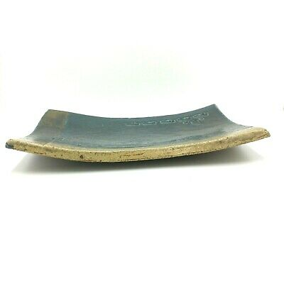 Large Hand Built Pottery Slab Platter Woodfired Plate Curved edges Artisan 9