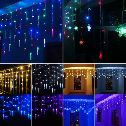 led lichtervorhang weihnachtsbeleuchtung lichterkette innen au en fenster deko eur 5 79. Black Bedroom Furniture Sets. Home Design Ideas