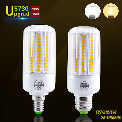 E27 E14 7W 9W 12W 15W 20W 25W 5730 SMD LED Corn Bulb Lamp Light Bright 110/220V 2