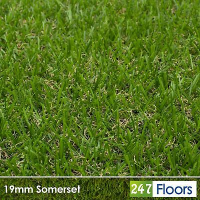 Somerset 19mm Artificial Grass Quality Astro Turf Cheap Realistic Natural 2m 4m 4