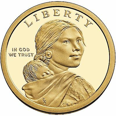 2017 P&d Set Native American Sacagawea Dollars From Mint Rolls Uncirculated 2