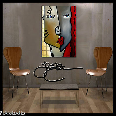 Abstract print from painting Modern Decor Woman HUGE Canvas WALL Art Fidostudio 2