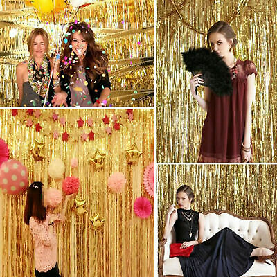 2M-3M Foil Fringe Tinsel Shimmer Curtain Door Wedding Birthday Party DECORATIONS 8