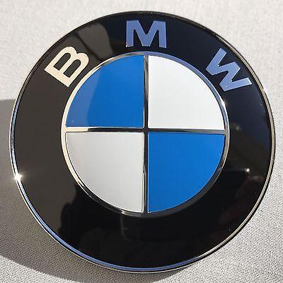 2PCS BMW Badge Emblem Front Hood /& Rear Trunk 82mm /& 74mm 51148132375 OEM