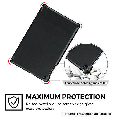 """Samsung Galaxy Tab A 2019 10.1"""" Full Body Flip Cover Trifold Case for T510/T515 9"""