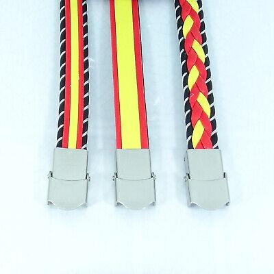Pulsera Bandera España Acero Inoxidable Bracelet Armband Cuero de Imitación