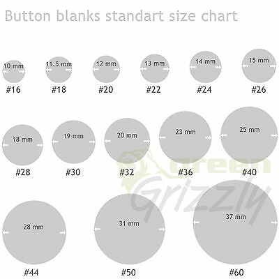 Button blanks for cover buttons in various size's plastic backs 10 to 37 mm wide 2