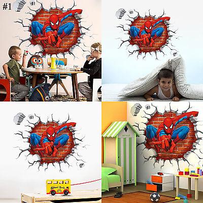 Super Hero Avengers Mural Vinyl Wall Decal Stickers Kids Nursery Bedroom Decor 2
