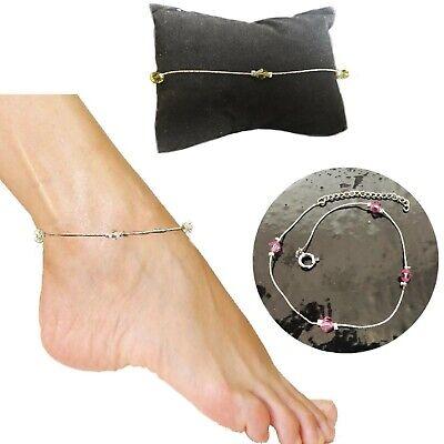 Cavigliera da donna bracciale da caviglia spiaggia sandalo mare tono argento 2