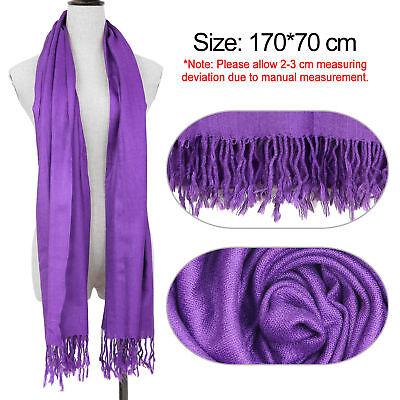 Fashion Womens Lady Girl Pashmina Warm Soft Solid Long Pashmina Shawl Wrap Scarf 3