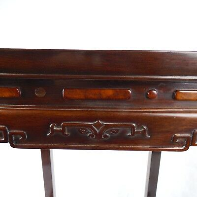 Huanghuali & Burlwood Table, Qing Dynasty 19th C 3