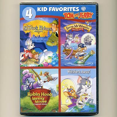 4 KID FAVORITES: Tom & Jerry animated movies cartoons, new DVD set, over 4  hours