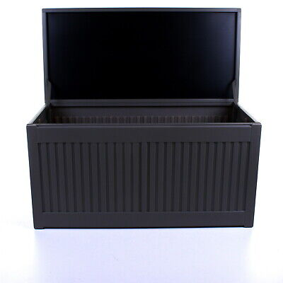 270L Grey Garden Storage Box Outdoor Plastic Utility Cabinet Shed Chest Cushion 8