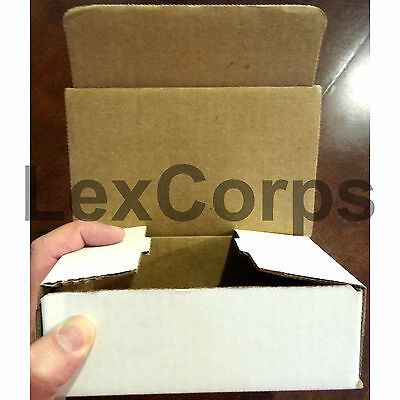 White Corrugated Mailers MANY SIZES 50 100 200 Shipping Packing Fold Box 6