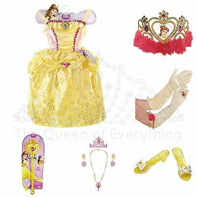 Disney Princess Costume Girls 4 5 6X Halloween Dress-up Dress Shoes Please Read