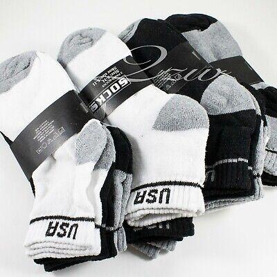 Lot 6-12 Pair Men Women Ankle Quarter Low Cut Crew Cotton Socks Sport 9-11 10-13 4