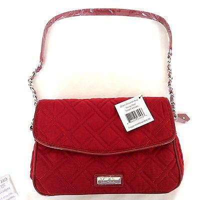 631cfc391a2 ... 11 TANGO RED Vera Bradley CHAIN SHOULDER BAG Microfiber Patent Leather  Trim New 9