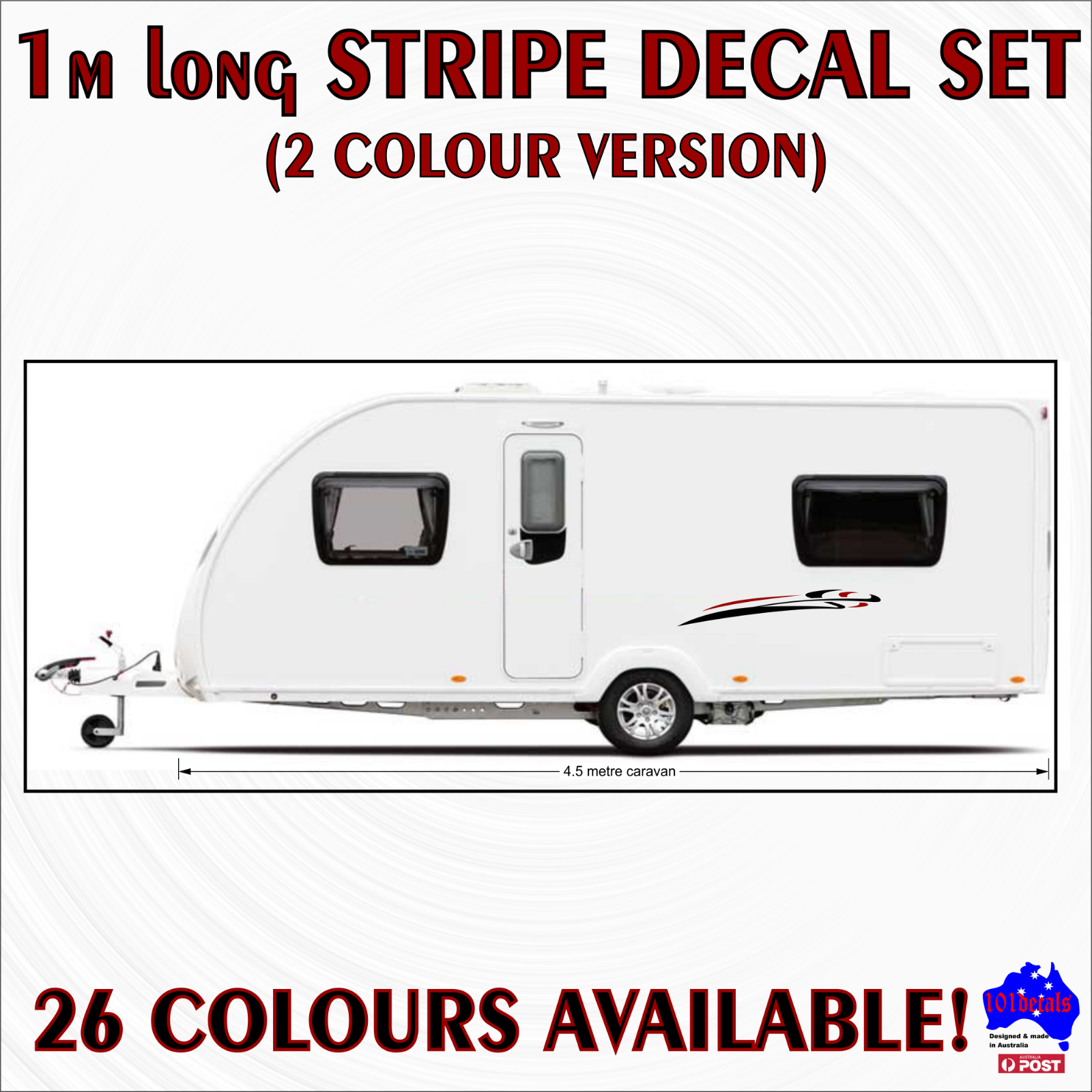 59cm STRIPE #6 decal sticker set!Car,caravan,4wd,boat,tinny marine vinyl graphic